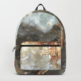 Golden Grey Marble Backpack