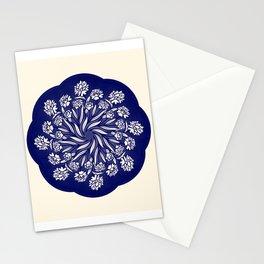 Blue Iris Mandala Stationery Cards