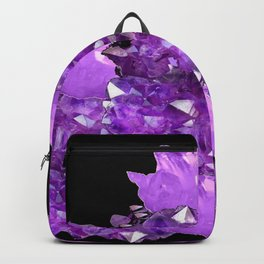 AWESOME PURPLE AMETHYST CRYSTAL CLUSTER Backpack