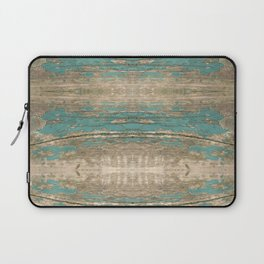 Rustic Wood - Beautiful Weathered Wooden Plank - knotty wood weathered turquoise paint Laptop Sleeve