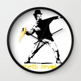 spaghetti revolution Wall Clock