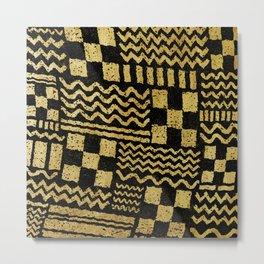 Gold Fuse Metal Print