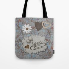 Vintage Hearts and Flowers with Love Tote Bag