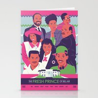 fresh prince Stationery Cards featuring The Fresh Prince of Bel-Air by Dwele Rosa