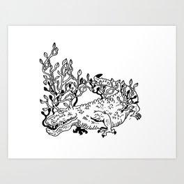 Crocoflora Art Print