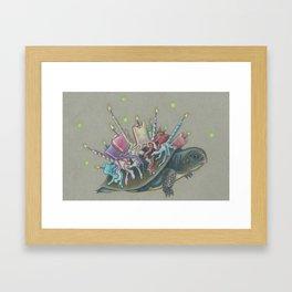 Oswald Cornelius Chim-Cham the Unbirthday Turtle Framed Art Print