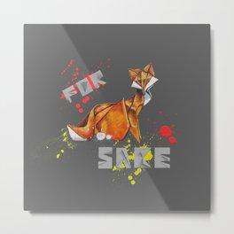 For Fox Sake- Wild World Of Paper Metal Print