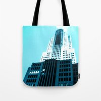 comic book Tote Bags featuring Comic Book Chicago by A/B Photography