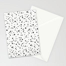 BLACK STAR NIGHT Stationery Cards