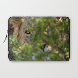 Peekaboo - A Lion Appears Laptop Sleeve