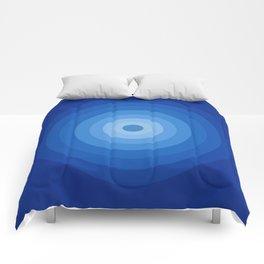 Blue Retro Bullseye Comforters