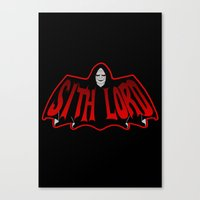 sith Canvas Prints featuring Sith Lord by Buby87