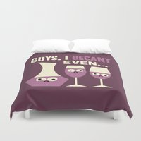 Contain Yourself Duvet Cover
