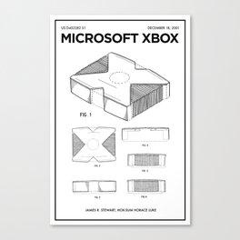 Xbox Poster • Microsoft Gamer Prints • Xbox Patent Printable • Gift For Gamer • Gamer Present Canvas Print