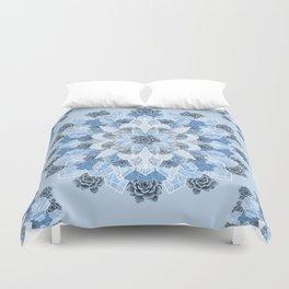 Crystals Succulents Mandala BLUE Duvet Cover