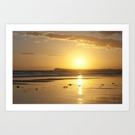 Sunset over Barwon Heads Art Print