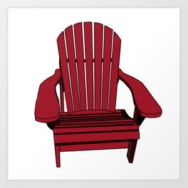 Sit back and relax in the Muskoka Chair Art Print