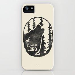 El solo Lobo iPhone Case