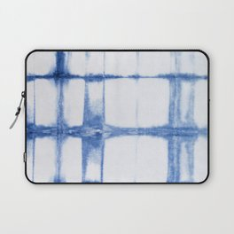 Shibori Blue - Rectangles Laptop Sleeve