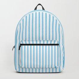 Oktoberfest Bavarian Blue and White Mattress Ticking Backpack