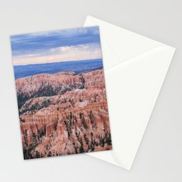 Sunset over Hoodoos - Bryce Canyon National Park, Rocky Natural Landscape, Utah Hiking Photography Stationery Cards