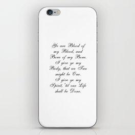 Outlander Wedding Vows iPhone Skin