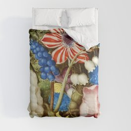 Colorful Still Life with Flowers and Insect Comforters