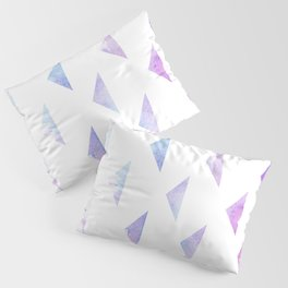 Watercolour Triangles Violet Pillow Sham