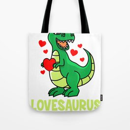 Valentine's Day T-Rex Dino love sweet heart gift Tote Bag