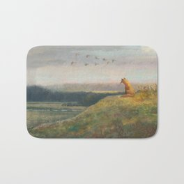 Red Fox Looks Out Over the Valley Bath Mat