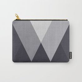 Sawtooth Inverted Blue Grey Carry-All Pouch