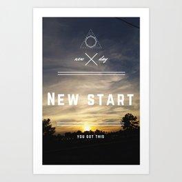 New Start Art Print
