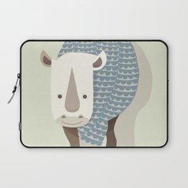 Whimsical Rhinoceros Laptop Sleeve