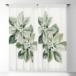 Sedum Succulents Blackout Curtain