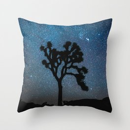 Joshua Tree Night Sky Astrophotography Throw Pillow