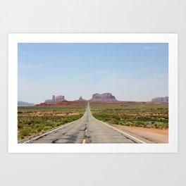 Monument Valley Horizontal Art Print