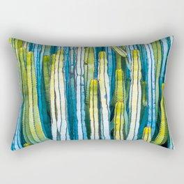 Colorful cactus painting Rectangular Pillow