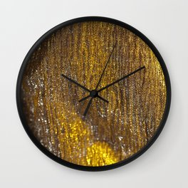 Gold Sparkly Abstract Design Wall Clock