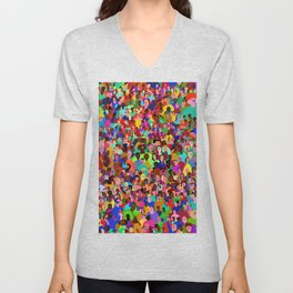 All of these people hate me Unisex V-Neck