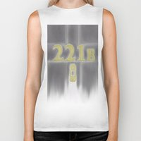 221b Biker Tanks featuring Sherlock, 221b Baker Street  by Anthony M. Sennett