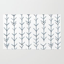Twigs and branches freeform gray Rug