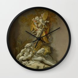 "François Boucher ""Fountain Study II"" Wall Clock"
