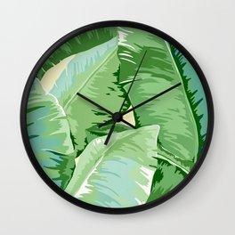Banana leaf grandeur Wall Clock