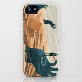 The wanderer and the desert portals iPhone Case