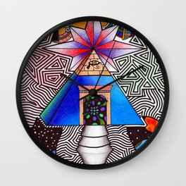 Ancient Wisdom of Time Wall Clock