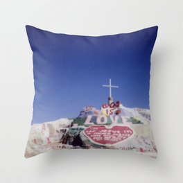 Salvation Mountain Cheki Throw Pillow