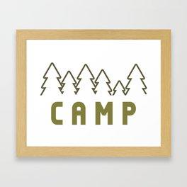 Camp Wilderness Framed Art Print