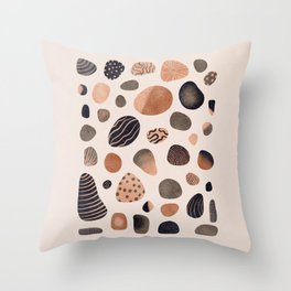 Watercolor Pebbles Throw Pillow
