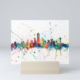 Dallas Texas Skyline Mini Art Print