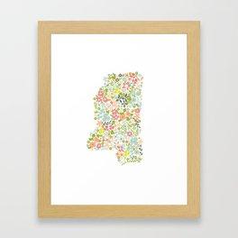 Mississippi Florals Framed Art Print